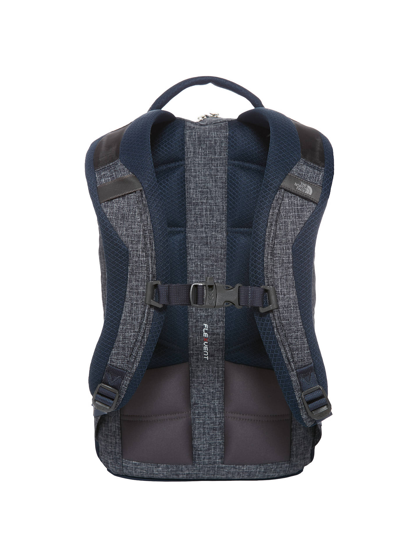 5a4df8b59 The North Face Microbyte Backpack, Navy/Grey at John Lewis & Partners