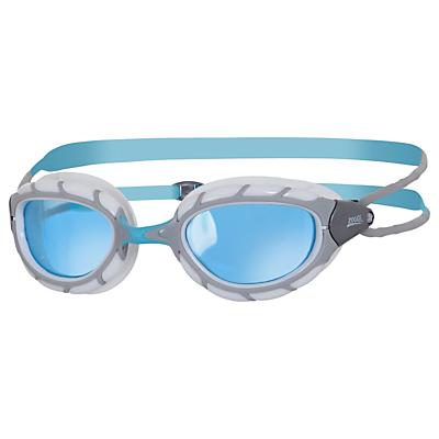 Zoggs Predator Swimming Goggles, Silver/Red