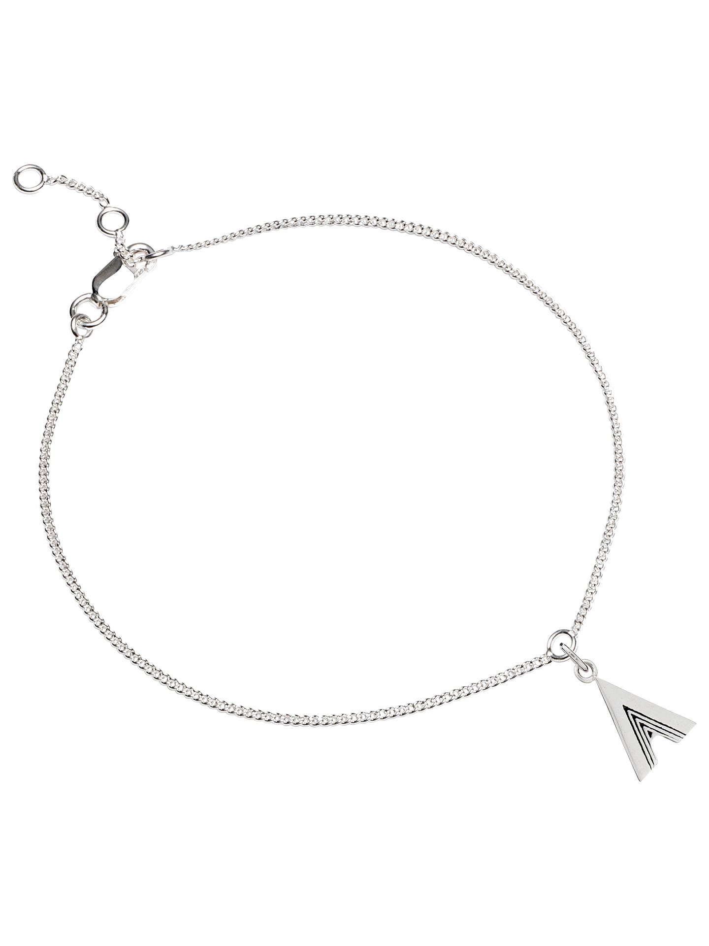 Rachel Jackson London Sterling Silver Initial Charm Bracelet A Online At Johnlewis