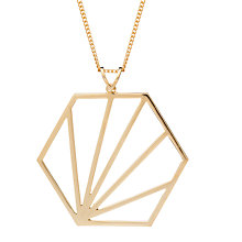Buy Rachel Jackson London Large Hexagon Pendant Necklace Online at johnlewis.com
