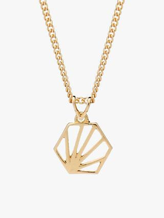 Rachel Jackson London Small Hexagon Pendant Necklace