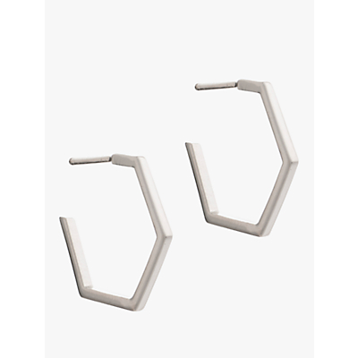 Rachel Jackson London Medium Hexagon Hoop Earrings