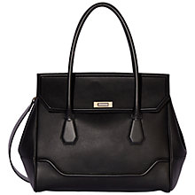 Buy Modalu Hemingway Leather Large Grab Bag, Black Online at johnlewis.com