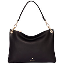 Buy Modalu Lottie Leather Flat Shoulder Bag, Black Online at johnlewis.com