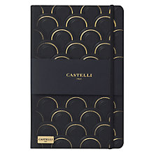 Buy Castelli Art Deco A5 Notebook, Black/Gold Online at johnlewis.com