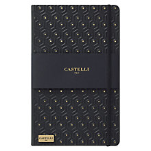 Buy Castelli Honeycomb A5 Notebook, Black/Gold Online at johnlewis.com