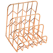Buy John Lewis Rose Gold Letter Rack Online at johnlewis.com