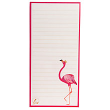 Buy Sara Miller Flamingo Magnetic Jotter Online at johnlewis.com