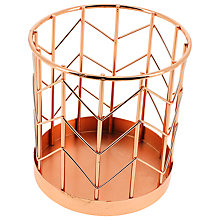 Buy John Lewis Rose Gold Pen Pot Online at johnlewis.com