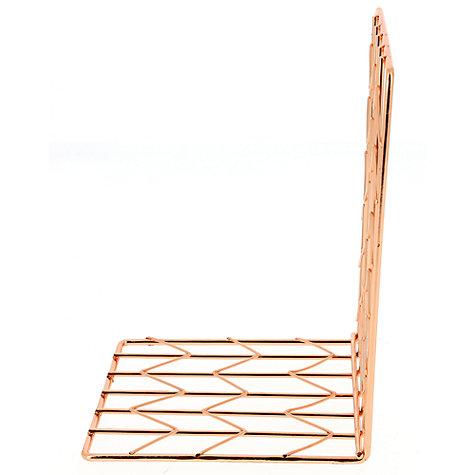 Buy John Lewis Rose Gold Bookend Online at johnlewis.com