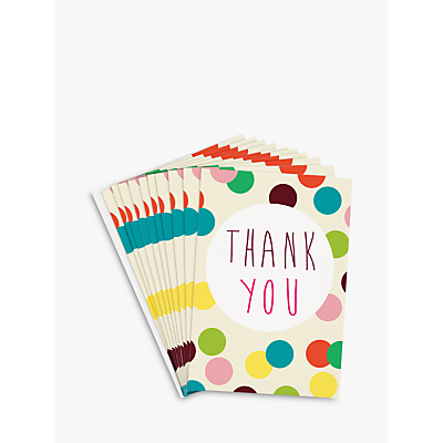 Image of Caroline Gardner Dotty Thank You Notecards, Set of 10