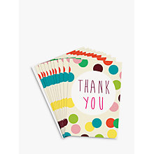 Buy Caroline Gardner Dotty Thank You Notecards, Set of 10 Online at johnlewis.com