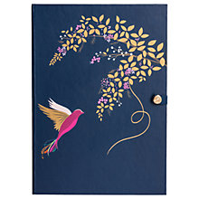 Buy Sara Miller Bird and Floral Luxury A5 Notebook, Blue Online at johnlewis.com