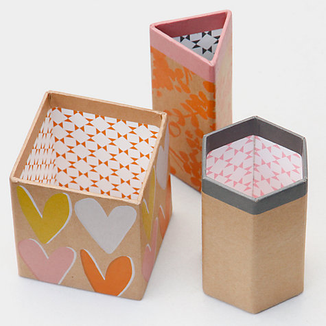 Buy Caroline Gardner Hearts Triple Desk Tidy Pen Pot Online at johnlewis.com