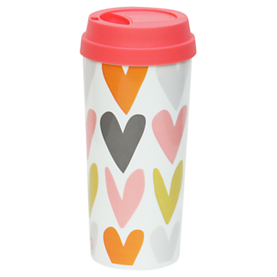 Product photo of Caroline gardner hearts thermal mug multi
