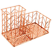 Buy John Lewis Rose Gold Desk Tidy Online at johnlewis.com
