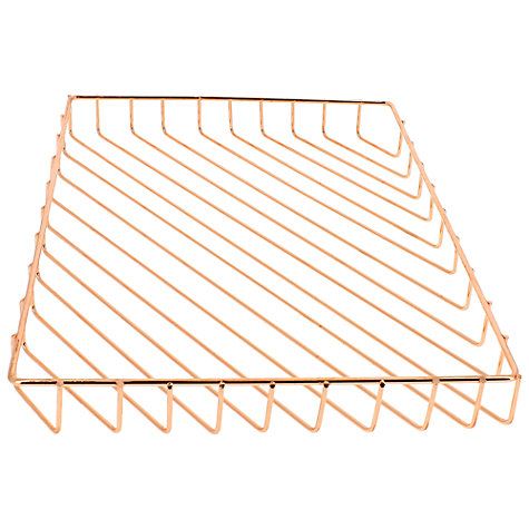 Buy John Lewis Rose Gold A4 Letter Tray Online at johnlewis.com