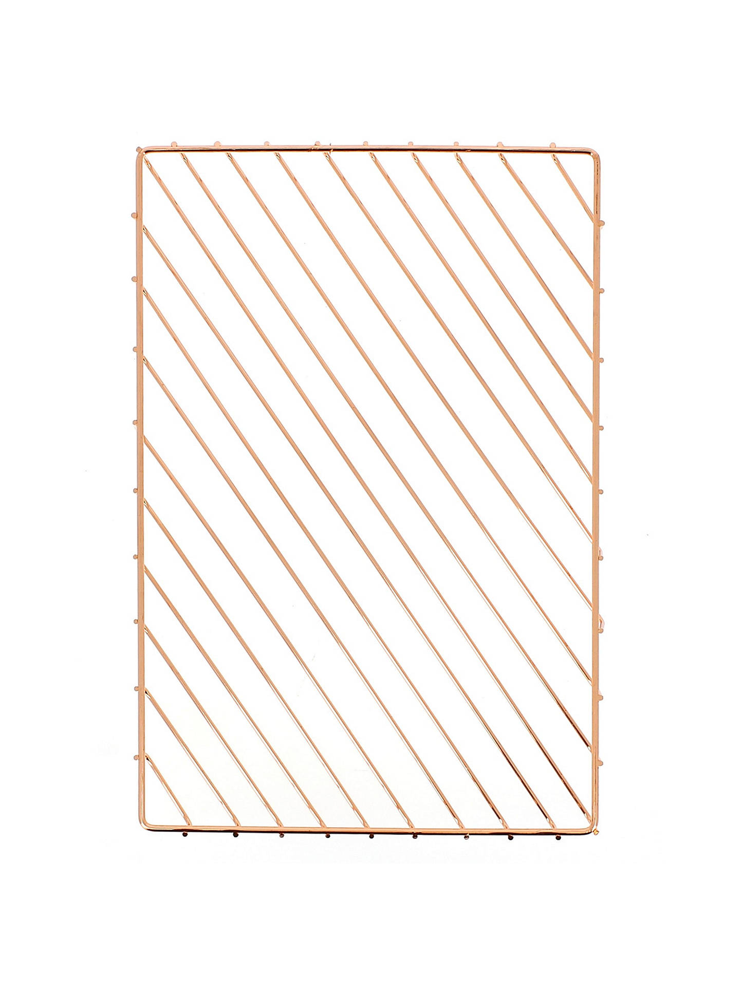 BuyJohn Lewis Rose Gold A4 Letter Tray Online at johnlewis.com