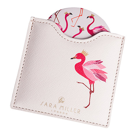 Buy Sara Miller Flamingo Compact Mirror Online at johnlewis.com