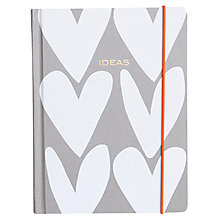 Buy Caroline Gardner 'Ideas' Hearts Hardback Notebook Organiser Online at johnlewis.com