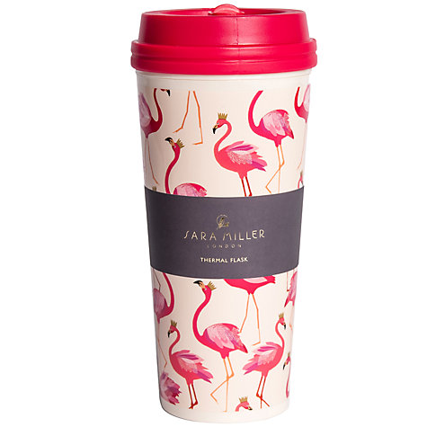 Buy Sara Miller Flamingos Thermal Mug Online at johnlewis.com