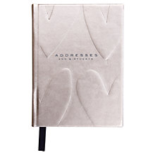 Buy Caroline Gardner Hearts Embossed Metallic Address and Birthday Book, Rose Gold Online at johnlewis.com