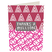 Buy Caroline Gardner 'Thanks A Million' Notecards, Pack of 10 Online at johnlewis.com