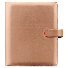 Buy Filofax Saffiano Special Edition A5 Personal Organiser, Rose Gold Online at johnlewis.com