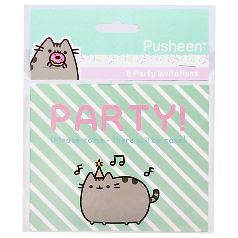 Buy Pusheen Party Invitations, Pack of 8 | John Lewis