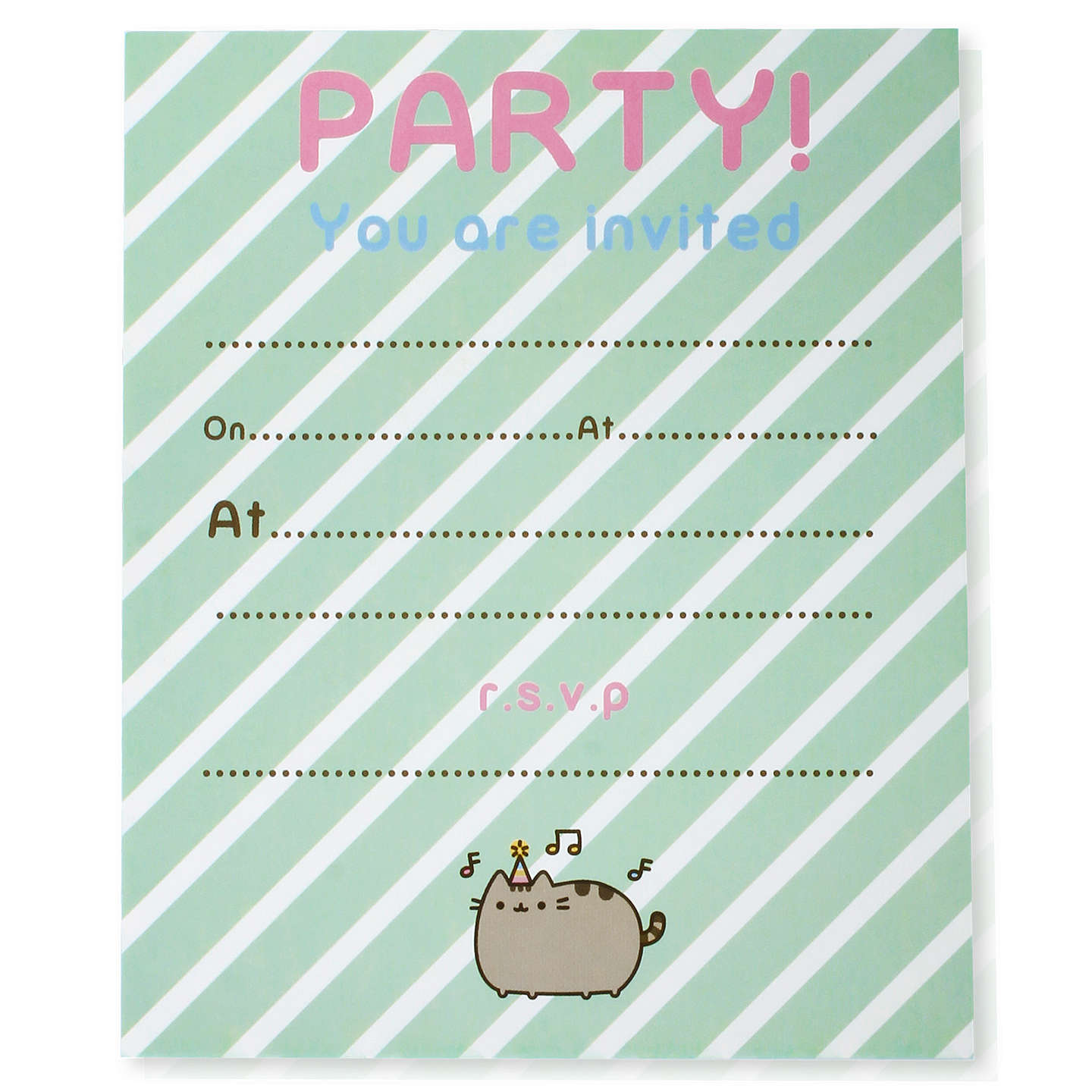 Pusheen party invitations pack of 8 at john lewis buypusheen party invitations pack of 8 online at johnlewis stopboris Image collections