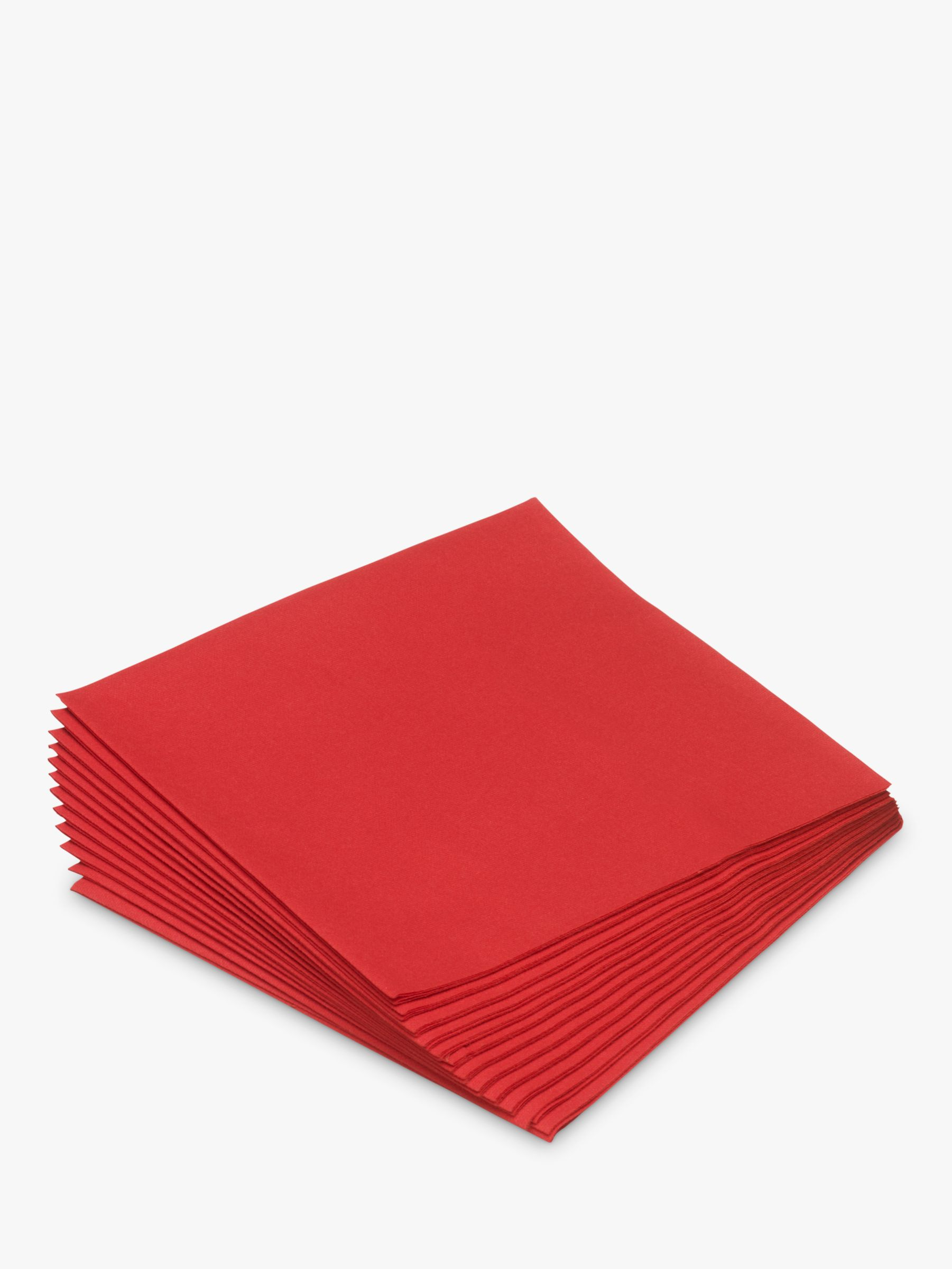 Duni Duni Paper Napkins, Pack of 12, Red