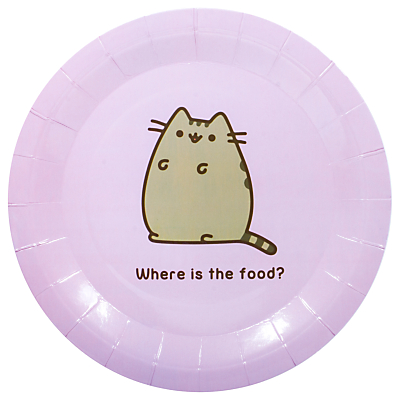 Pusheen Paper Plates, Pack of 8