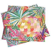 Buy Ginger Ray Pineapple Napkins, Pack of 20 Online at johnlewis.com