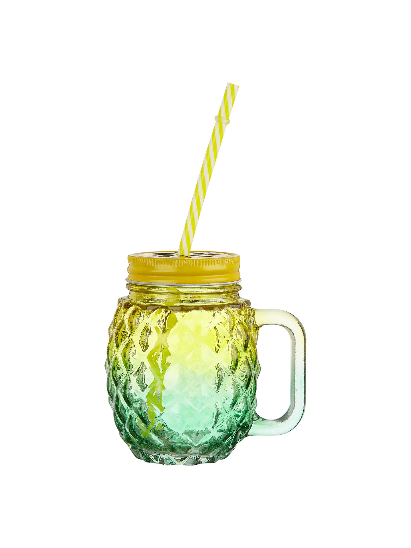 BuyJohn Lewis & Partners Textured Drinking Glass, Yellow Online at johnlewis.com