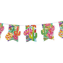 Buy Ginger Ray Paper Cactus Bunting, 2.5M Online at johnlewis.com