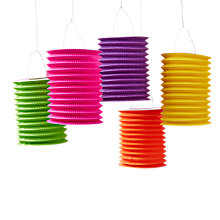 Buy Ginger Ray Hanging Paper Lanterns, Pack of 5 Online at johnlewis.com