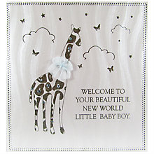 Buy Five Dollar Shake Welcome To The World Baby Boy Card Online at johnlewis.com