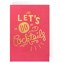 Buy Lagom Designs Let's Do Cocktails Notecards, Pack of 5 Online at johnlewis.com