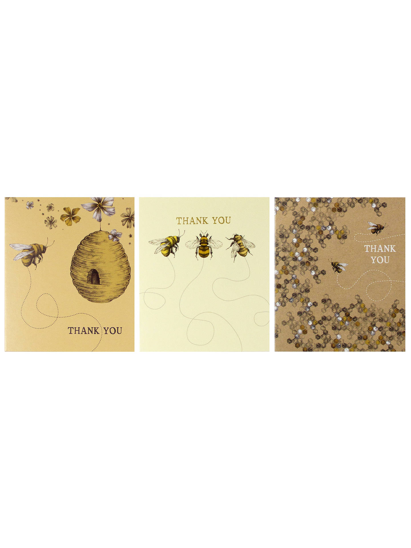 Buy Art File Bee Thank You Notecards, Pack of 12 Online at johnlewis.com