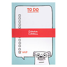 Buy Gemma Correll Pug To Do List Online at johnlewis.com