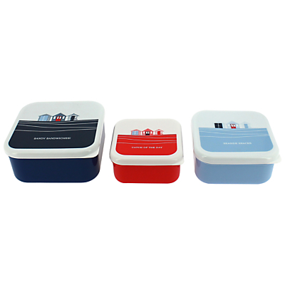 John Lewis Coastal Snack Boxes, Set of 3