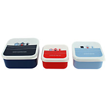 Buy John Lewis Coastal Snack Boxes, Set of 3 Online at johnlewis.com