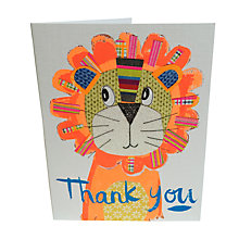 Buy Paper Salad Tiger Thank You Notecards, Pack of 5 Online at johnlewis.com