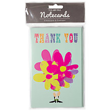Buy Art File Flower Thank You Notecards, Pack of 8 Online at johnlewis.com