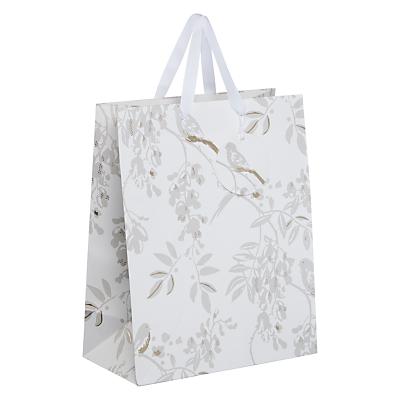 John Lewis Silver Bird Gift Bag