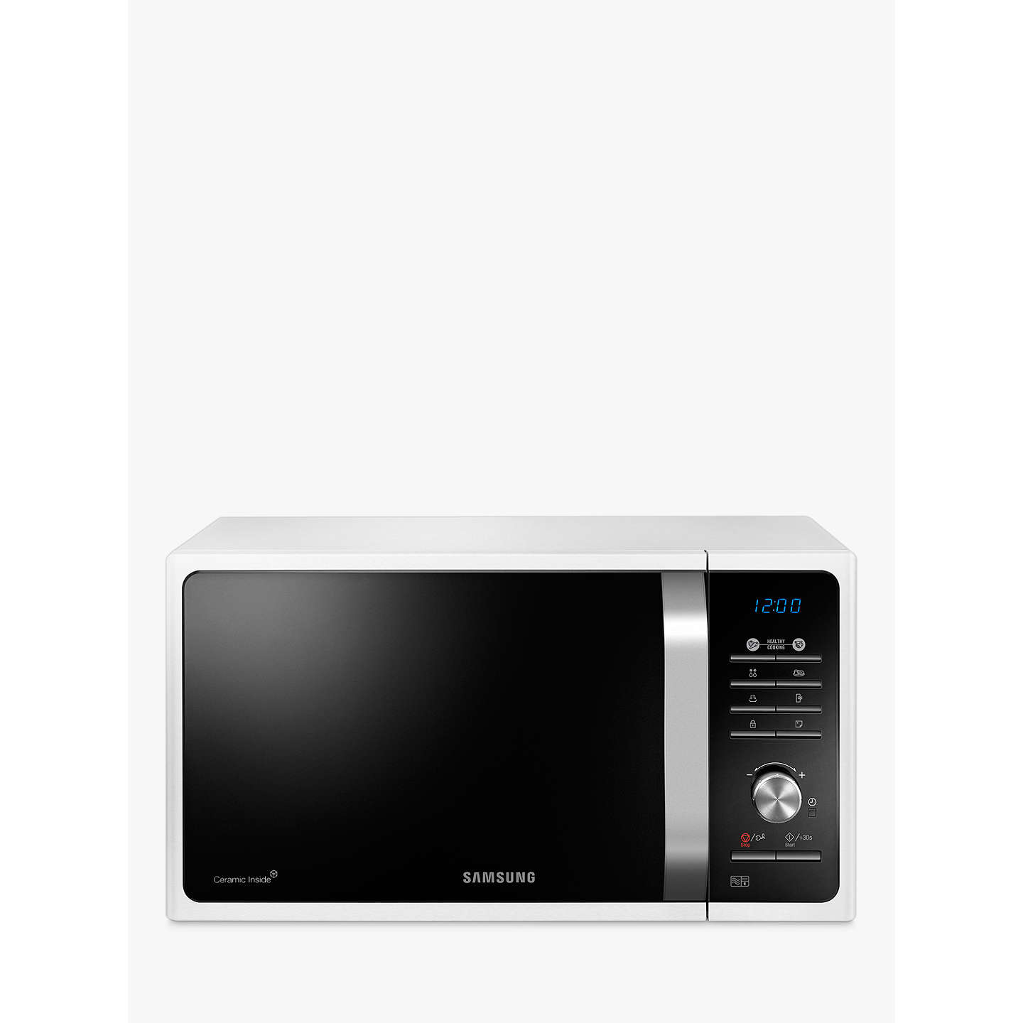 Samsung Ms23f301taw Solo Microwave Oven White Online At Johnlewis