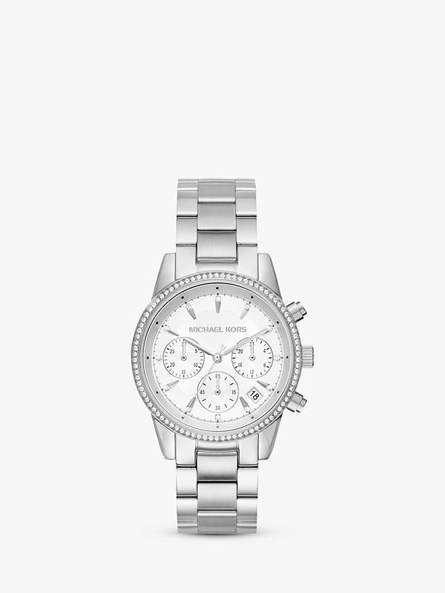 Michael Kors Women's Ritz Crystal Date Chronograph