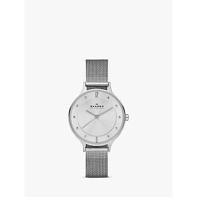 Skagen SKW2149 Women's Anita Stainless Steel Mesh Bracelet Strap Watch, Silver