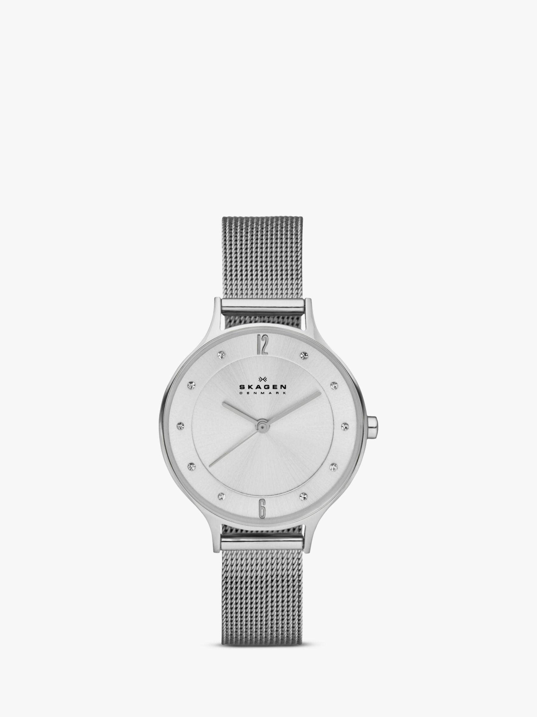 skagen Skagen SKW2149 Women's Anita Stainless Steel Mesh Bracelet Strap Watch, Silver