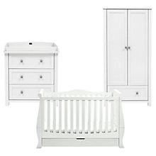 Buy Silver Cross Nostalgia Dresser, Wardrobe and Nostalgia Sleigh Cotbed, Solid White Online at johnlewis.com